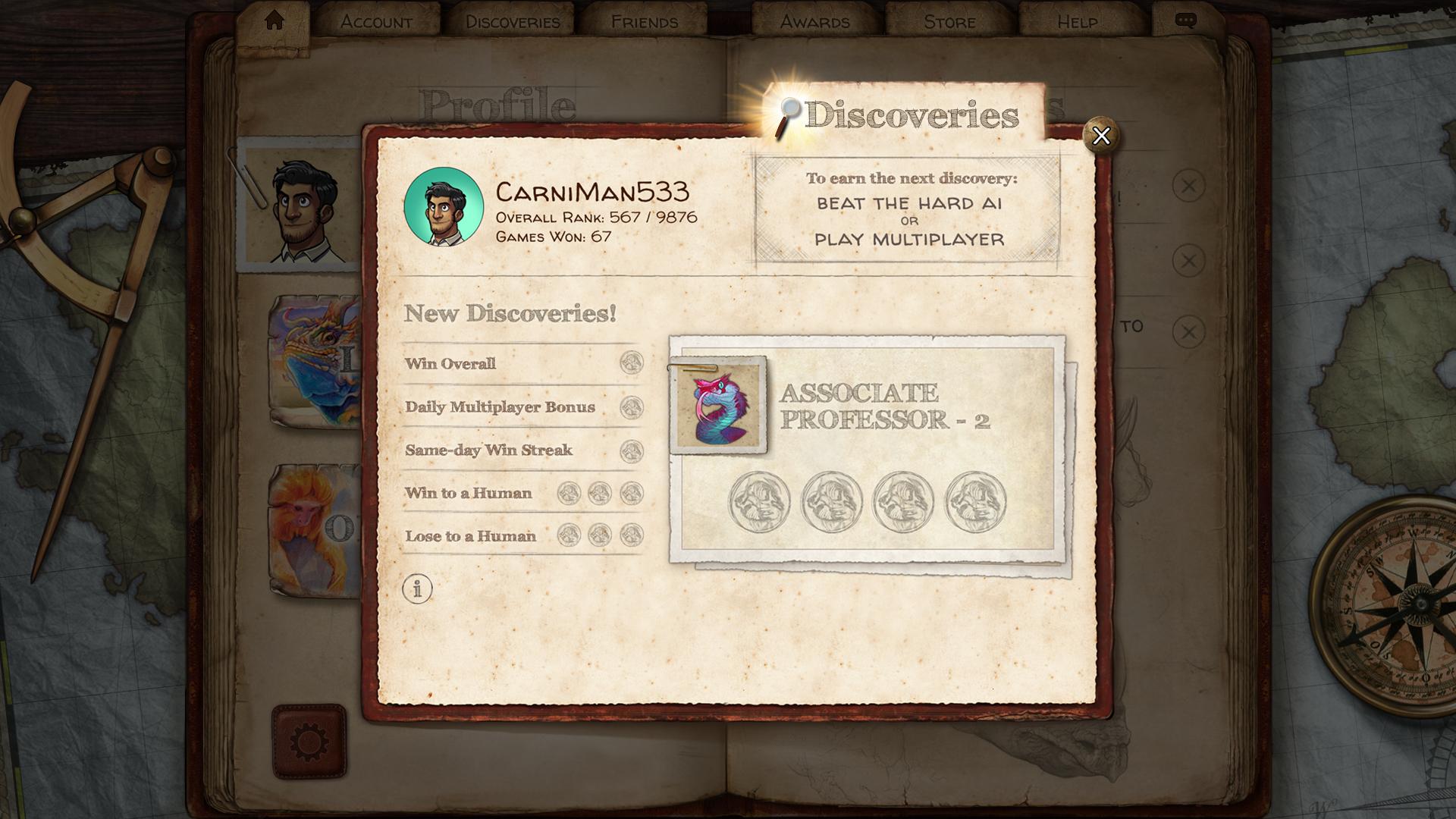 evolution video game ui main menu